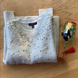 Banana Republic White Sweater, Size M